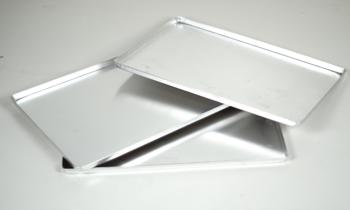 Taca wystawowa aluminiowa ZŁOTA 60x40x2cm