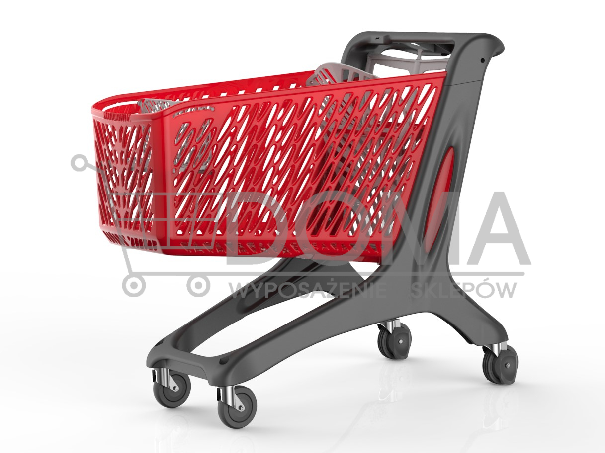 Wózek sklepowy MAXI All black 210l Rabtrolley